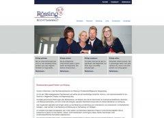 Rechtsanwalt von Rössing, Maging – Corporate Design, Internetauftritt